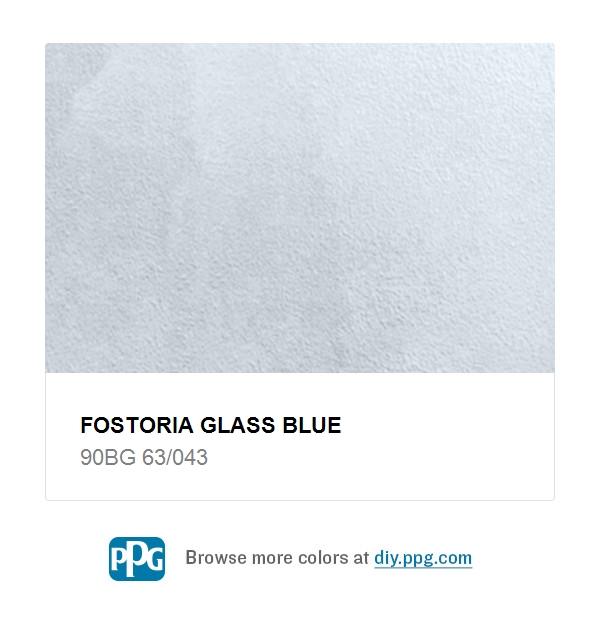 Fostoria Glass Blue