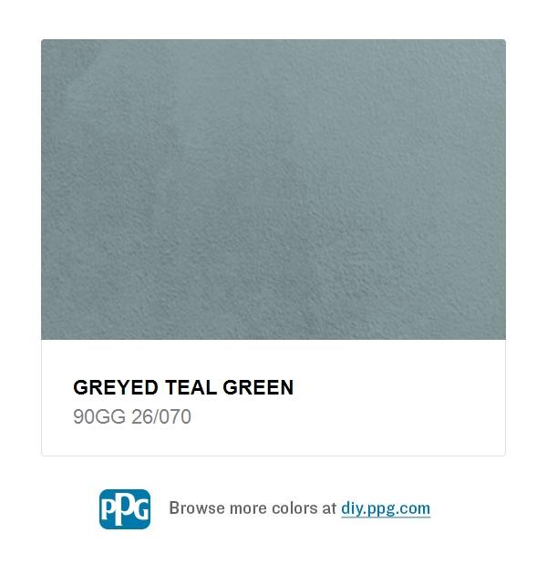 Greyed Teal Green