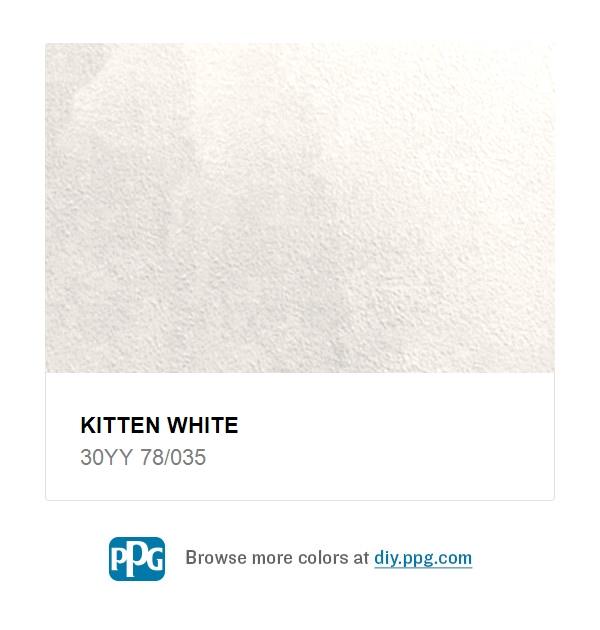 Kitten White Natural Paint Color Glidden Colors